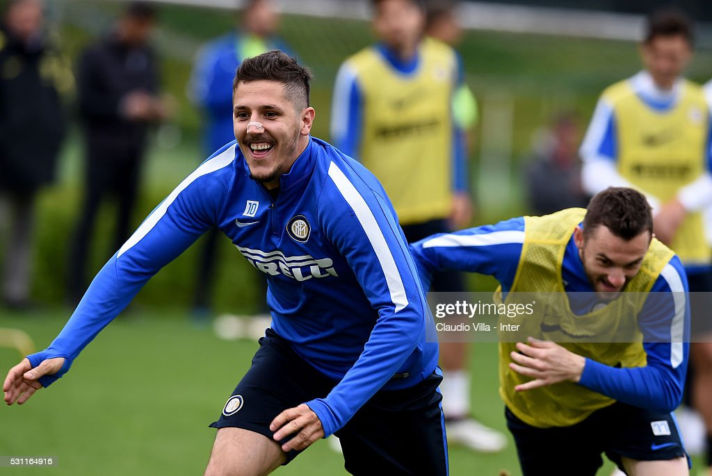 FC Internazionale Training Session And Press Conference : News Photo