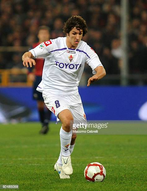 Stevan Jovetic of ACF Fiorentina in action during the Serie A match between Genoa CFC and ACF Fiorentina at Stadio Luigi Ferraris on October 28 2009...