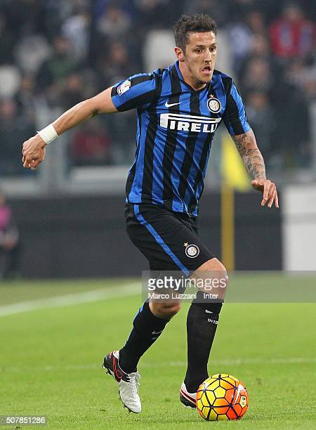 Stevan Jovetic of FC Internazionale Milano in action during the TIM Cup match between Juventus FC and FC Internazionale Milano at Juventus Arena on...