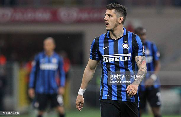 Stevan Jovetic of FC Internazionale Milano looks on during the Serie A match between FC Internazionale Milano and Udinese Calcio at Stadio Giuseppe...