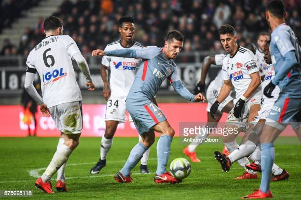 Stevan Jovetic of Monaco during the Ligue 1 match between Amiens SC and AS Monaco at Stade de la Licorne on November 17 2017 in Amiens