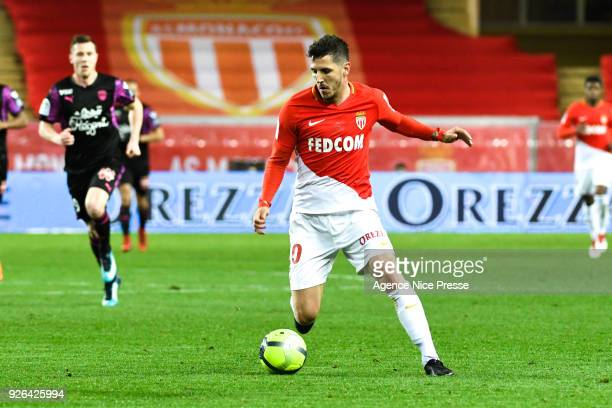 Stevan Jovetic of Monaco during the Ligue 1 match between AS Monaco and FC Girondins de Bordeaux at Stade Louis II on March 2 2018 in Monaco
