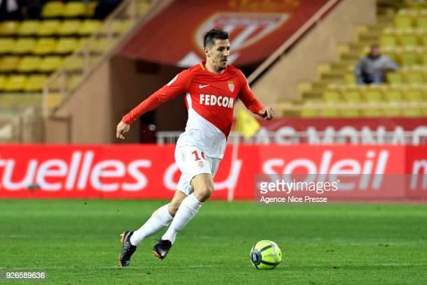 Stevan Jovetic of Monaco during the Ligue 1 match between AS Monaco and FC Girondins de Bordeaux at Stade Louis II on March 2 2018 in Monaco Monaco