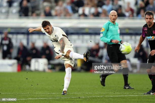 Stevan Jovetic of Monaco during the Ligue 1 match between FC Girondins de Bordeaux and AS Monaco at Stade Matmut Atlantique on October 28 2017 in...