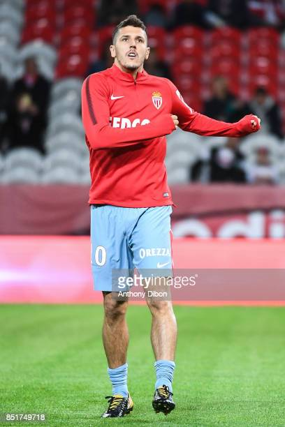 Stevan Jovetic of Monaco during the Ligue 1 match between Lille OSC and AS Monaco at Stade Pierre Mauroy on September 22 2017 in Lille