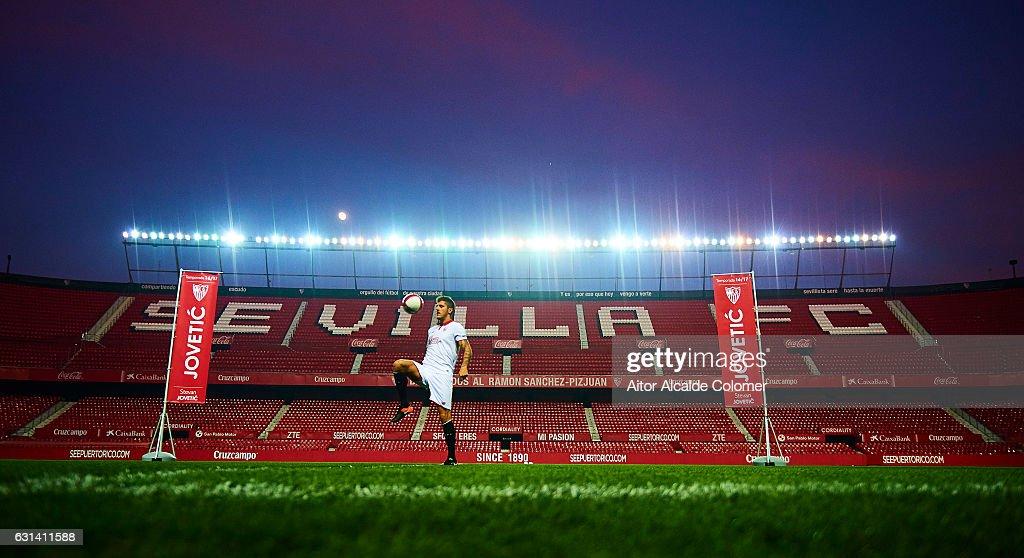 Sevilla FC unveil new signing Stevan Jovetic
