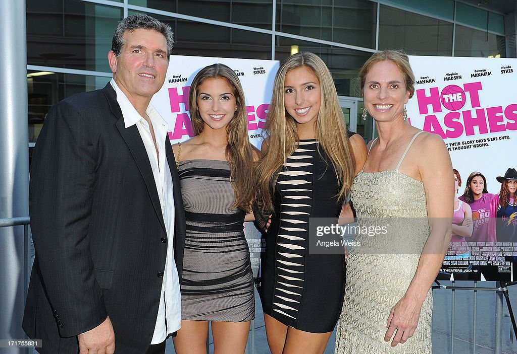 Steve Aimonetti, Cammi Aimonetti, Shelbi Aimonetti and Wendi Selig Aimonetti arrive at the premiere of 'The Hot Flashes' at ArcLight Cinemas on June 27, 2013 in Hollywood, California.