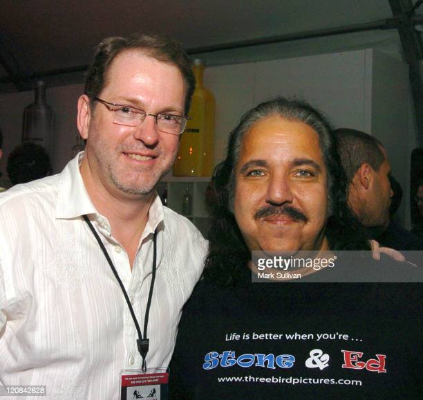 Steve Anderson director/producer and Ron Jeremy during AFI Fest 2005 Fuck Screening After Party at ArcLight Hollywood in Hollywood California United...