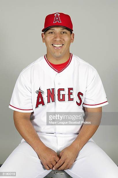 Steve Andrade of the Anaheim Angels poses for a portrait on February 26 2004 in Tempe Arizona