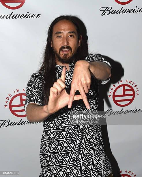 Steve Aoki attends day 2 of the 2014 Budweiser Made in America Festival at Los Angeles Grand Park on August 31 2014 in Los Angeles California