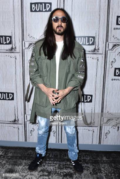 Steve Aoki attends Kolony Album Release Event Dim Mak SS18 Collection VIP Reception at Build Studio on July 18 2017 in New York City