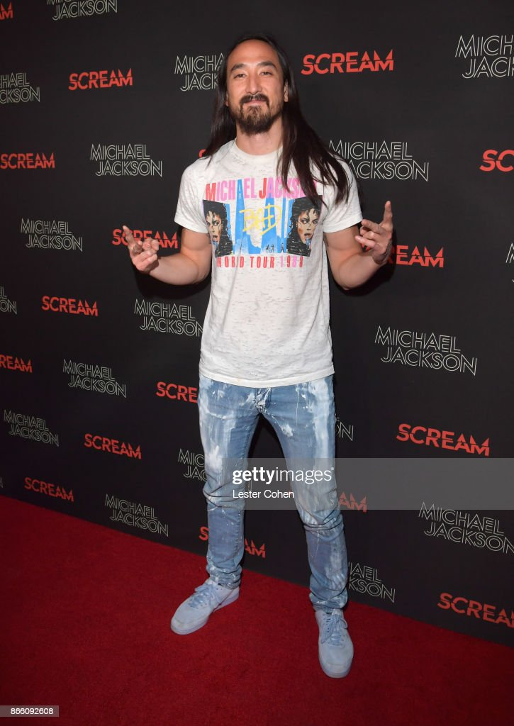 Steve Aoki attends Michael Jackson Scream Album Halloween Takeover at TCL Chinese 6 Theatres on October 24, 2017 in Hollywood, California.