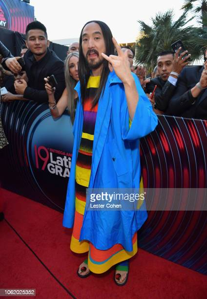 Steve Aoki attends the 19th annual Latin GRAMMY Awards at MGM Grand Garden Arena on November 15 2018 in Las Vegas Nevada