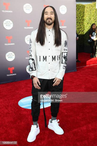 Steve Aoki attends the 2018 Latin American Music Awards at Dolby Theatre on October 25 2018 in Hollywood California