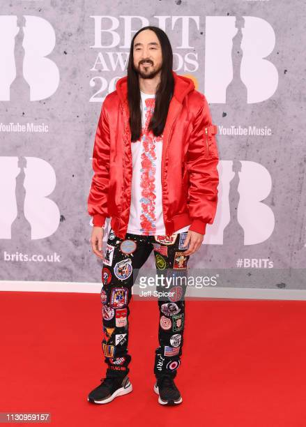 Steve Aoki attends The BRIT Awards 2019 held at The O2 Arena on February 20 2019 in London England