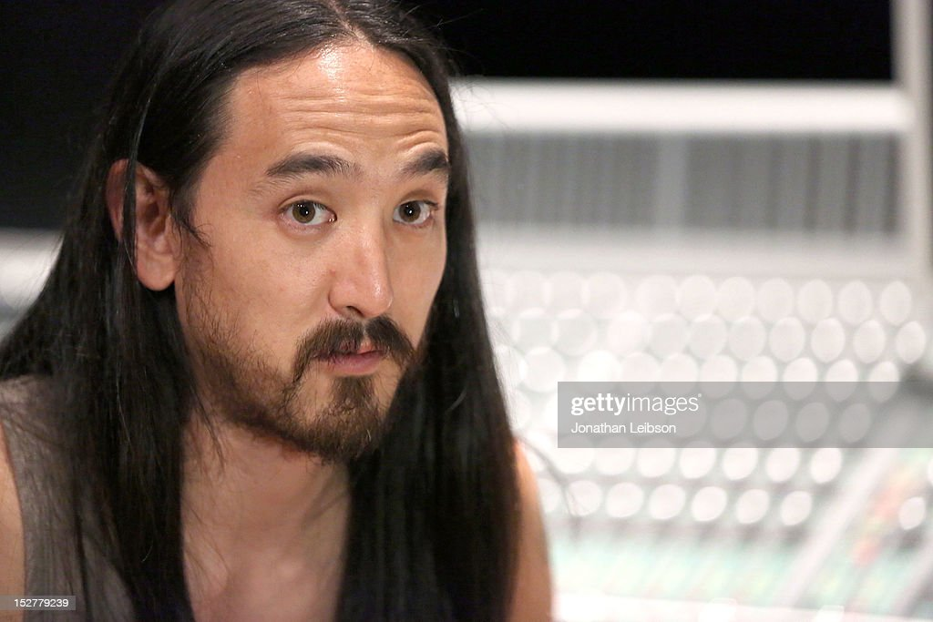 Steve Aoki attends the GRAMMY U Los Angeles Presents Up Close And Personal With Steve Aoki And Kaskade at Los Angeles Film School on September 25, 2012 in Los Angeles, California.
