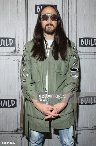 Steve Aoki attends the Steve Aoki and BUILD Series DIM MAK Collection SS18 'PARADISE FOUND' runway show and 'KOLONY' album release event at the BUILD...