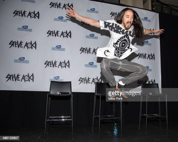 Steve Aoki attends the Steve Aoki Press Conference at Madison Square Garden on April 22 2014 in New York City