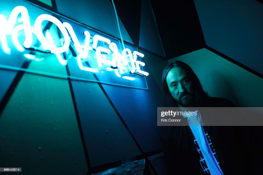 Steve Aoki hosts ASICS 'Jump Room' In NYC To Celebrate I Move Me Brand Launch on October 25, 2017 in New York City.