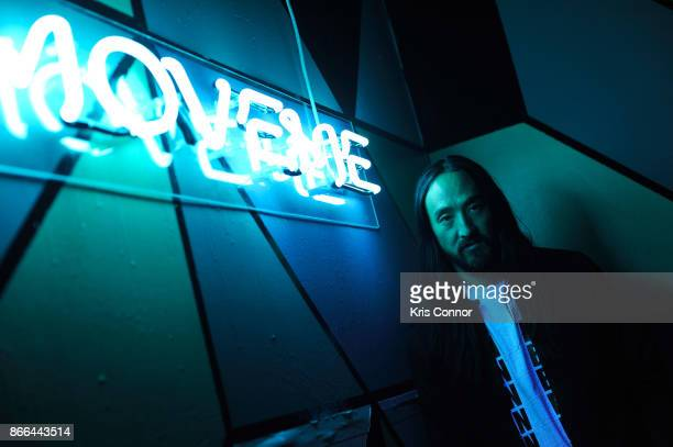 Steve Aoki hosts ASICS 'Jump Room' In NYC To Celebrate I Move Me Brand Launch on October 25 2017 in New York City