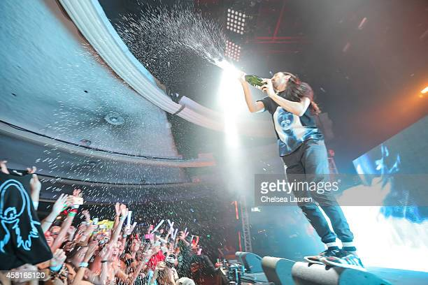 Steve Aoki performs at 971 AMP Radio's Halloween Masquerade at Hollywood Palladium on October 30 2014 in Hollywood California