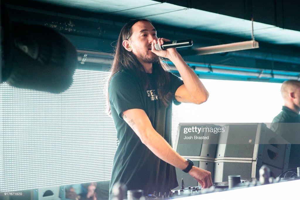 DJ Steve Aoki performs during Zoolu Mardi Gras at Metropolitan Nightclub on February 13, 2018 in New Orleans, Louisiana.