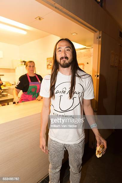 DJ Steve Aoki pictured at day 4 of the dance festival Tomorrowland at De Schorre Boom Belgium