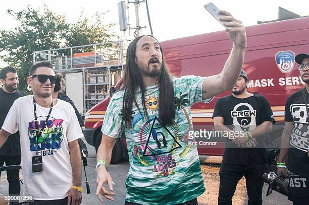 Steve Aoki pose for a portrait during the 2016 Electric Zoo Festival at Randall's Island on September 3 2016 in New York City