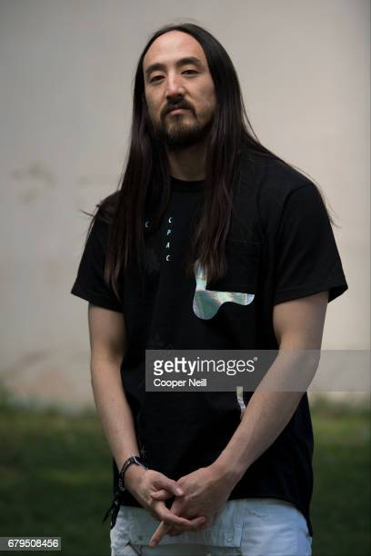 Steve Aoki poses for a portrait backstage during JMBLYA at Fair Park on May 5 2017 in Dallas Texas