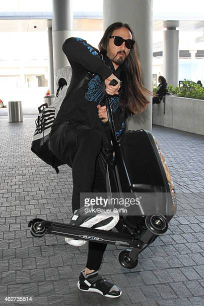 Steve Aoki seen at LAX on February 03 2015 in Los Angeles California