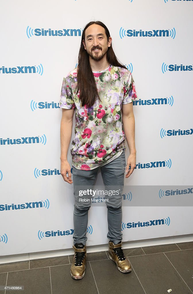 Steve Aoki visits at SiriusXM Studios on April 28, 2015 in New York City.