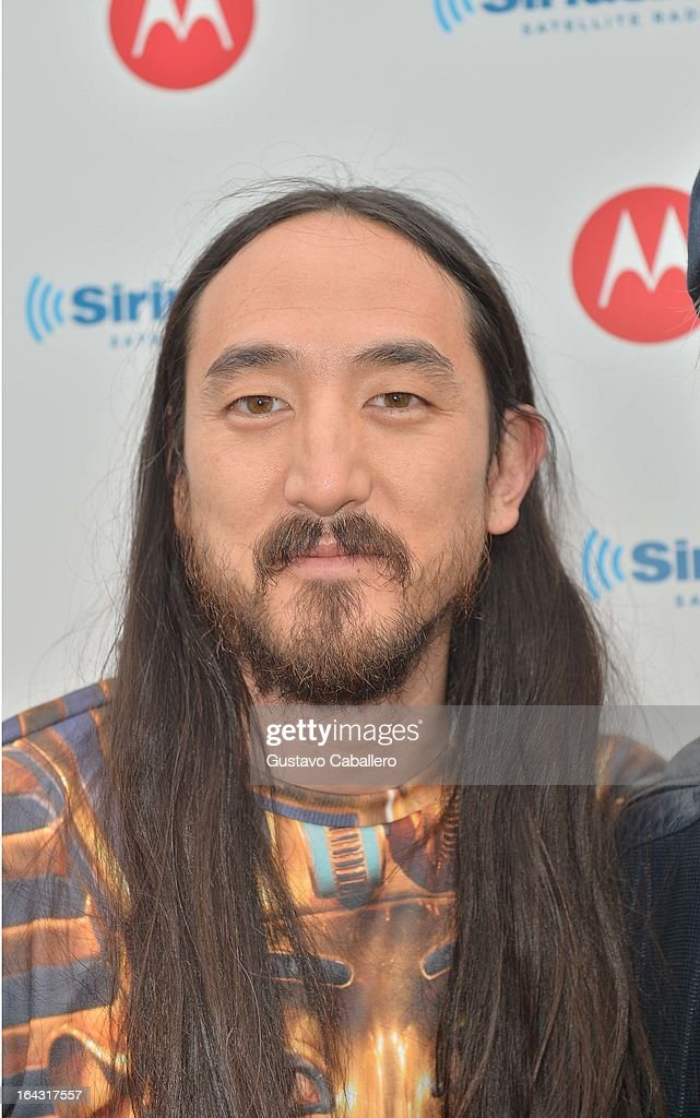 Steve Aoki visits the SiriusXM Music Lounge at W Hotel on March 22, 2013 in Miami, Florida.