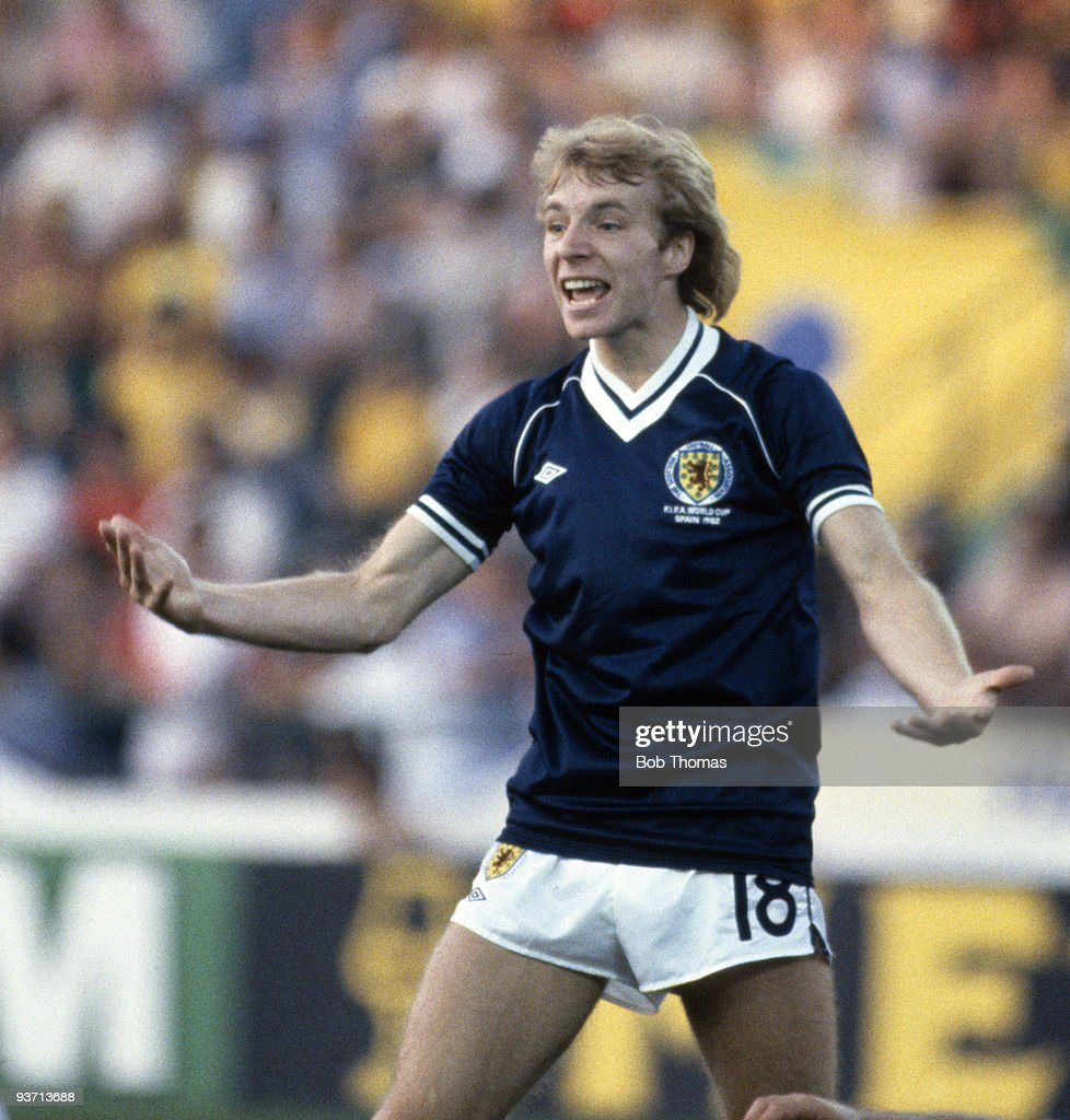 Steve Archibald of Scotland during the Brazil v Scotland World Cup match held in Seville, Spain on the 18th of June 1982. Brazil won 4-1. (Photo by Bob Thomas/Getty Images).
