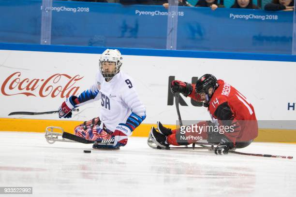 Steve ARSENAULT and Travis DODSON during The Ice Hockey gold medal game between Canada and United States during day nine of the PyeongChang 2018...