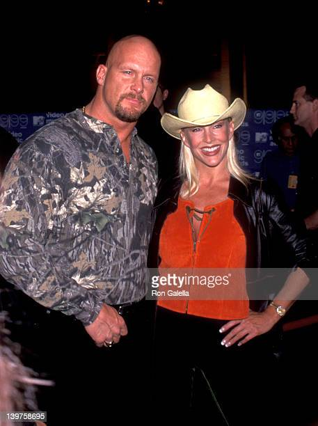 Steve Austin and Debra Marshall attend 16th Annual MTV Video Music Awards on September 9 1999 at the Metropolitan Opera House at Lincoln Center in...