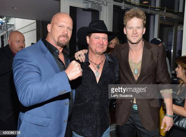 Steve Austin Tracy Lawrence And Brian Kelley Attend The