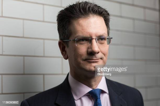 Steve Baker Conservative Party member of UK Parliament poses for a photograph in the Westminster district of London UK on Monday April 8 2019 The...