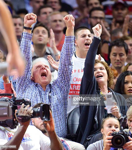 Steve Ballmer attends a basketball game between the Oklahoma City Thunder and the Los Angeles Clippers at Staples Center on October 30 2014 in Los...