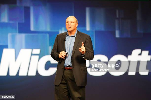 Steve Ballmer Chief Executive Officer of Microsoft Corporation addresses the Microsoft Worldwide Partner Conference on July 14 2009 at the Morial...
