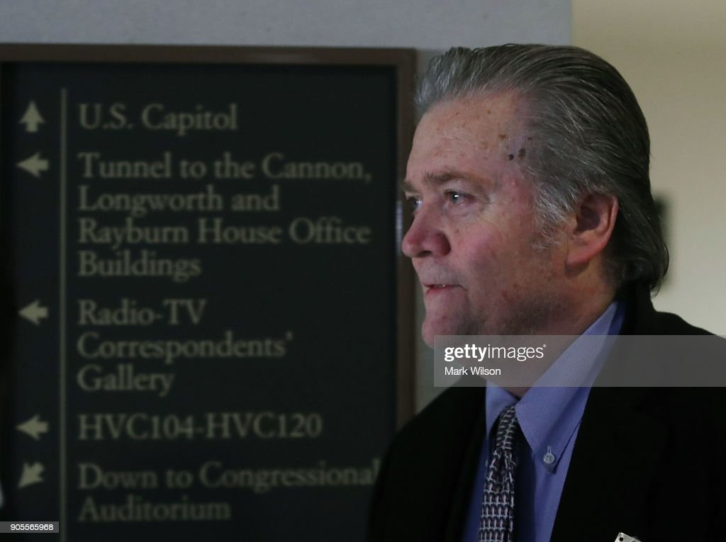 Steve Bannon Meets With House Intelligence Committee On Russia Investigation