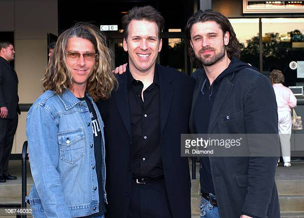 Steve Barnes with Ed and Dean Roland of Collective Soul