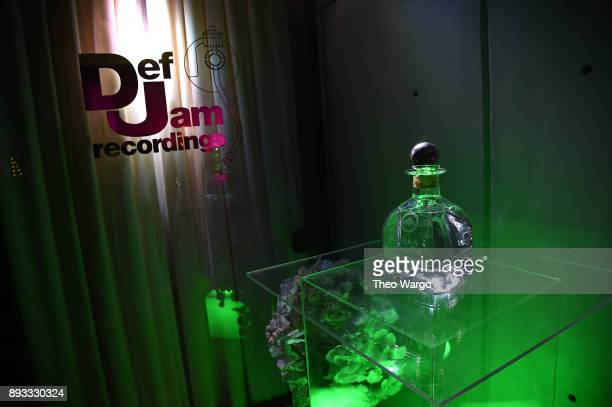 Steve Bartel bottle at Def Jam Recordings Celebrates the Holidays with Patron Tequila at Spring Place on December 14 2017 in New York City