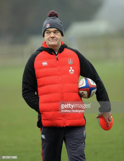 Steve Bates Head Coach is pictured during England U20 Media Access at Bisham Abbey on January 9 2018 in Marlow England
