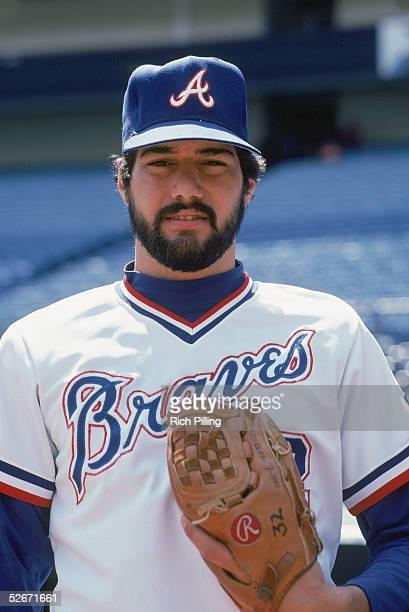 Steve Bedrosian of the Atlanta Braves poses for a portrait Steve Bedrosian played for the Atlanta Braves from 19811985 19931995