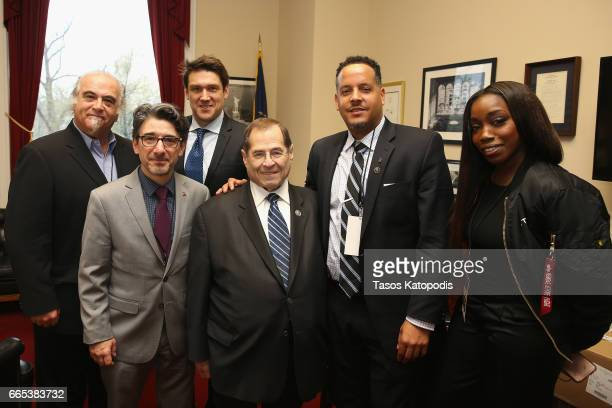 Steve Berkowitz Nick Cucci Ben Allison Rep Jerrold Nadler Ivan Barias and Estelle at The Recording Academy®'s annual GRAMMYs on the Hill® Advocacy...