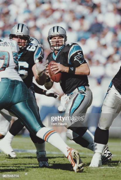 Steve Beuerlein Quarterback for the Carolina Panthers during the National Football Conference West game against the Miami Dolphins on 15 November...