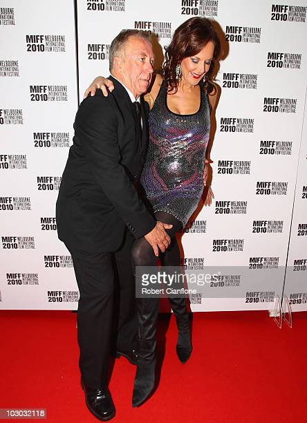 Steve Bisley and Rhonda Burchmore attend the opening night premier of The Wedding Party during the Melbourne International Film Festival at the...