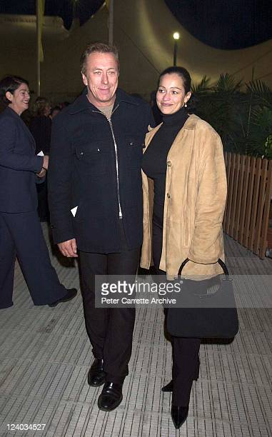 Steve Bisley and Sally Burleigh arrive for the opening night of the Cirque du Soleil production of 'Alegria' under the Grand Chapiteau at Moore Park...