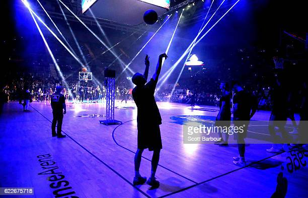 Steve Blake of the Sydney Kings shoots the ball during warm up during the round six NBL match between Melbourne United and the Sydney Kings at...