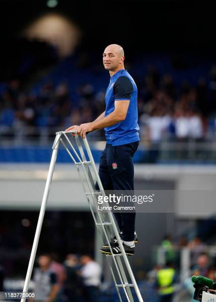 Steve Borthwick England forwards coach during the Rugby World Cup 2019 SemiFinal match between England and New Zealand at International Stadium...